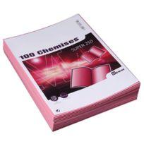Majuscule - chemises dossiers super 210 24x32 rose - paquet de 100