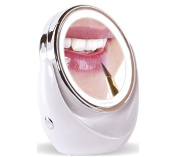 Lanaform miroir grossissant x10 avec clairage led pas cher achat vente miroir de salle de for Miroir grossissant x10