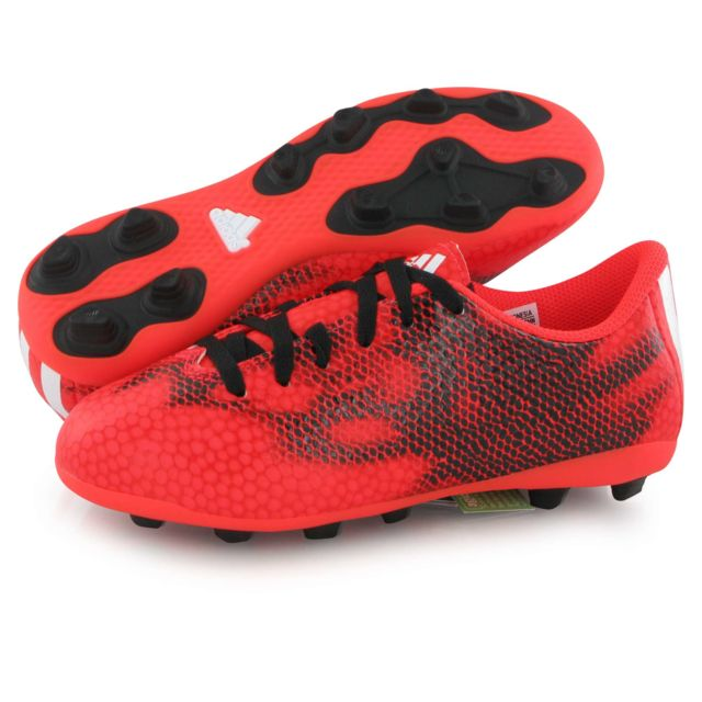 Adidas performance F5 Fg rouge, chaussures de football