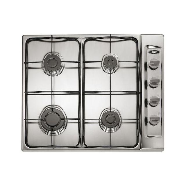 Totalcadeau Plaque au gaz 60 cm Acier inoxydable 4 cuisinière Plaque de cuisson cuisine