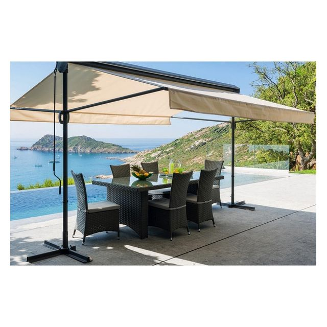 hesp ride store double pente riviera cru beige 3m x 4m x 1m pas cher achat vente store. Black Bedroom Furniture Sets. Home Design Ideas