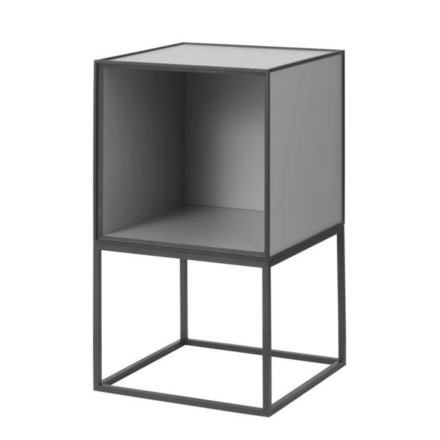 By Lassen Table d'appoint Frame 35 sans portes - gris foncé