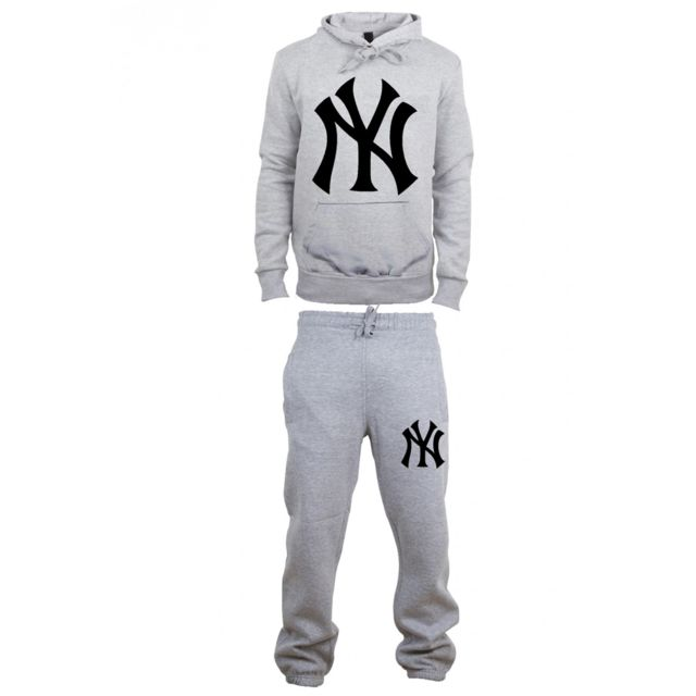 Magic custom - Ensemble Survetement Jogging New York Gris - Coton