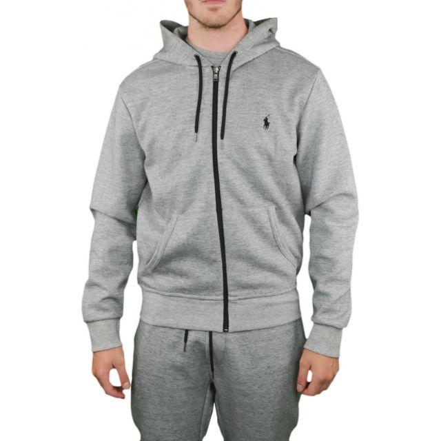 029ba0395d8 Ralph Lauren - Veste sweat à capuche grise pour homme - pas cher Achat    Vente Blouson homme - RueDuCommerce