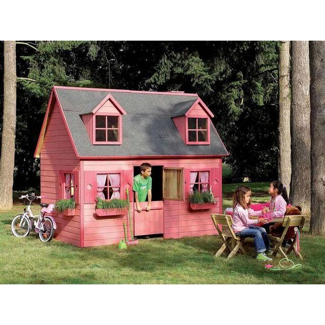 Forest Style Cabane Enfant Rosalie En Bois Pas Cher Achat