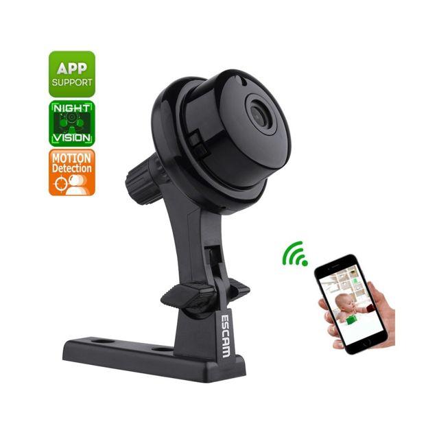 Auto-hightech Caméra ip WiFi Vidéo Hd 720p, Objectif 62 degrés,Vision nocturne, Détection de mouvement