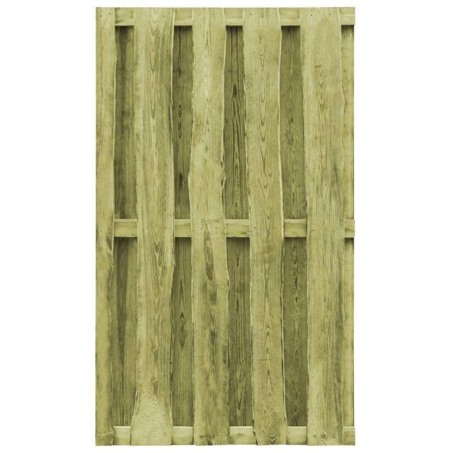 Contemporain Clôtures et barrières categorie Koweït Portillon de clôture de  jardin 100x170cm Fsc Bois imprégné Vert