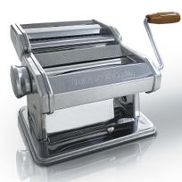 Rocambolesk - Superbe Machine à Pâtes en Acier Inoxydable avec manivelle Inox Spaghetti Lasagne Manuelle neuf