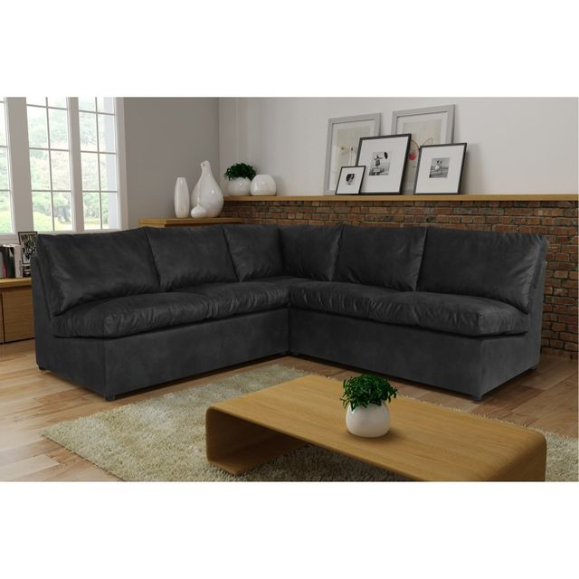Rocambolesk Canapé d'angle Avanti Flexi 2A2 tobago gris anthracite sofa divan