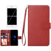 Wewoo - Coque marron pour iPhone 8 & 7 & 6s & 6 & 5 & 5s Se, Samsung Galaxy Siv & Siii, Taille: 13,5 x 7 x 1,8 cm ordinateur portable, housse de protection et cadre magnétique rabat horizontale avec en cuir