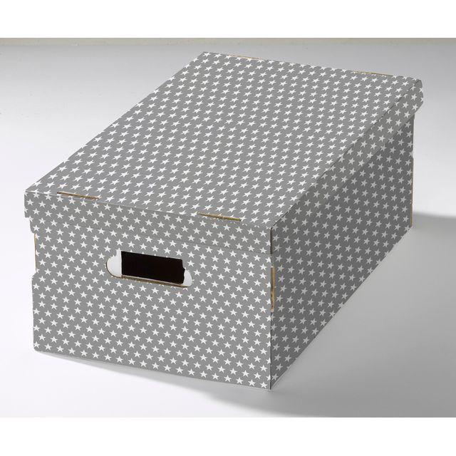 site réputé 60f99 975e4 Compactor - Lot de 2 boîtes «Shirt» motifs etoiles Gris et ...