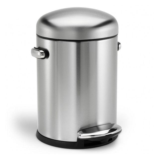 SIMPLEHUMAN poubelle à pédale 4.5l inox - cw1888