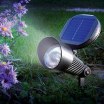 Sunny Trend - Spot solaire aluminium 3 Led