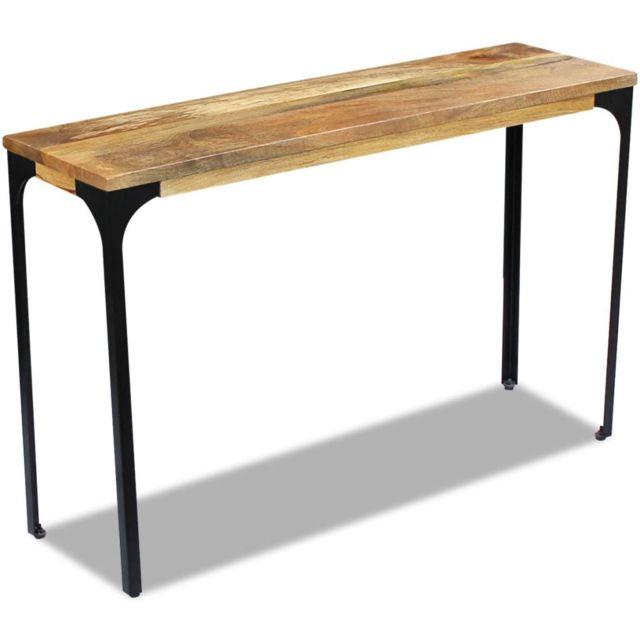 Moderne Armoires et meubles de rangement famille Asmara Table console Bois de manguier 120 x 35 x 76 cm