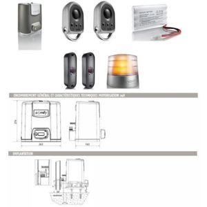 somfy automatisme motorisation portail coulissant elixo 500 3s 24v pack confort rts pas cher. Black Bedroom Furniture Sets. Home Design Ideas