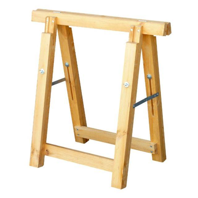 outifrance tr teau bois pro r glable en hauteur pas cher achat vente etais tr teaux. Black Bedroom Furniture Sets. Home Design Ideas