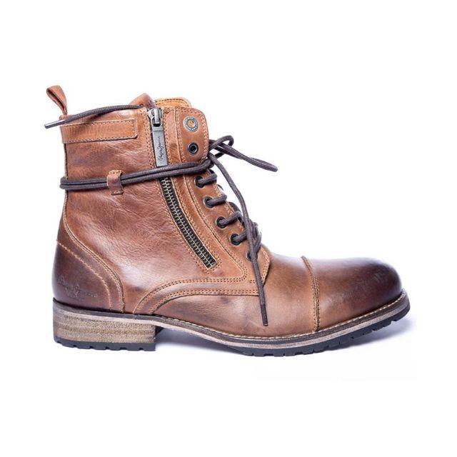 13155e6df5d Pepe Jeans - Boots Melting Zipper - pas cher Achat   Vente Boots homme -  RueDuCommerce
