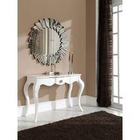 Ma Maison Mes Tendances - Miroir rond en verre Dresda - L 100 x l 100