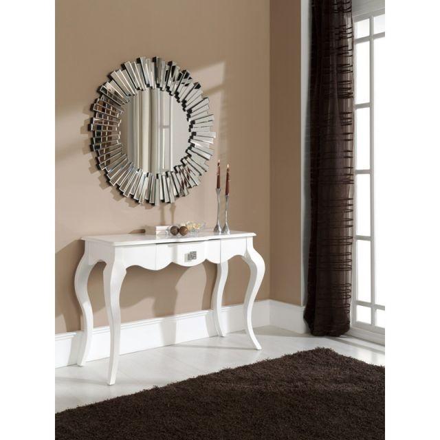 Ma Maison Mes Tendances Miroir rond en verre Dresda - L 100 x l 100