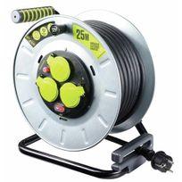 Luceco - Enrouleur câble électrique - multiprises - Pro Xt - tambour galva - 25m