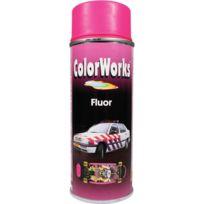 Colorworks - Peinture aérosol fluo rose - 400 ml