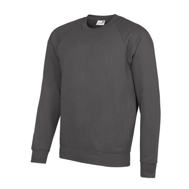 AWDIS Academy - Sweatshirt - Homme L, Gris foncé Utrw3916