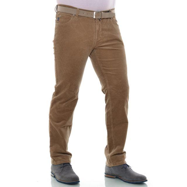 Pionier Pantalon velours beige foncé