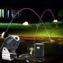 Oase - jeu d'eau et lumière 1 jet multicolore télécommandé 33w - jj rainbow star