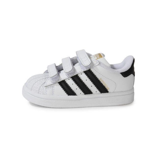 Adidas originals - Superstar Foundation Blanche Et Noire Bébé