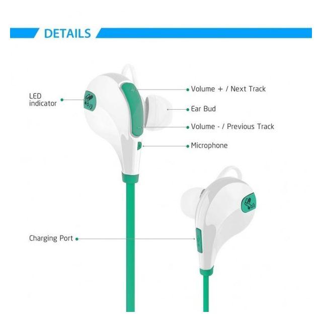 Alpexe Ecouteur Sans fil stéréo, Casque bluetooth écouteurs sans fil avec  le micro intégré, anti-transpiration, suppression du pas cher - Achat    Vente ... 9fe0e6052027