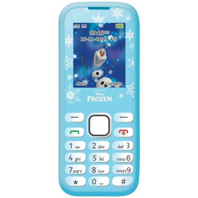 Lexibook Disney Frozen La Reine des Neiges Elsa Téléphone Portable 2G, double Sim, radio Fm, batterie rechargeable , bleu/blanc,