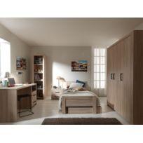Modern Life - Ensemble 3 éléments Aline : Lit+chevet+armoire 2 portes