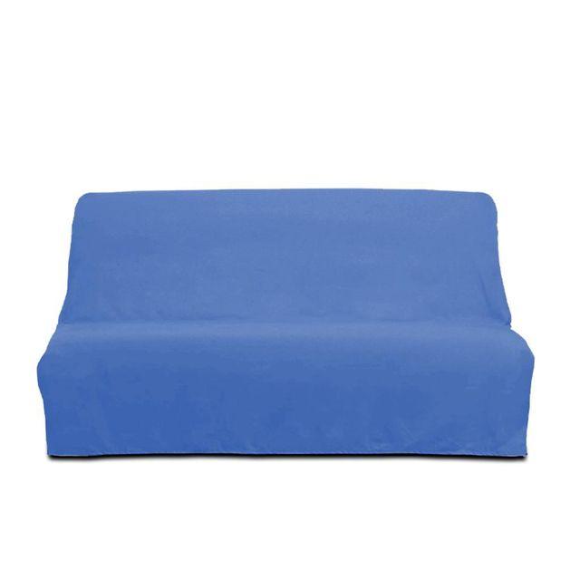 29399cfe8ac448 Soleil D OCRE - Housse clic-clac en coton Panama bleu - pas cher ...