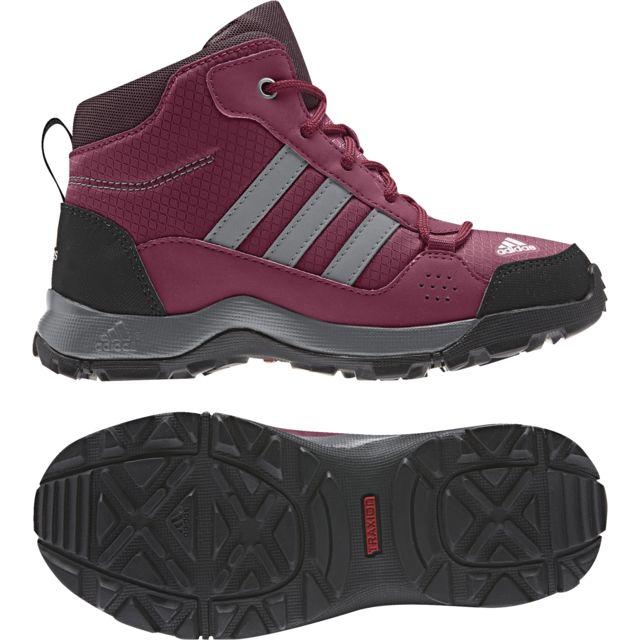 Adidas - Chaussures junior Hyperhiker rouge pourpre/gris/violet - 33 1/2