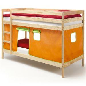 idimex lits superpos s naturel felix rideaux orange vert pas cher achat vente structures. Black Bedroom Furniture Sets. Home Design Ideas