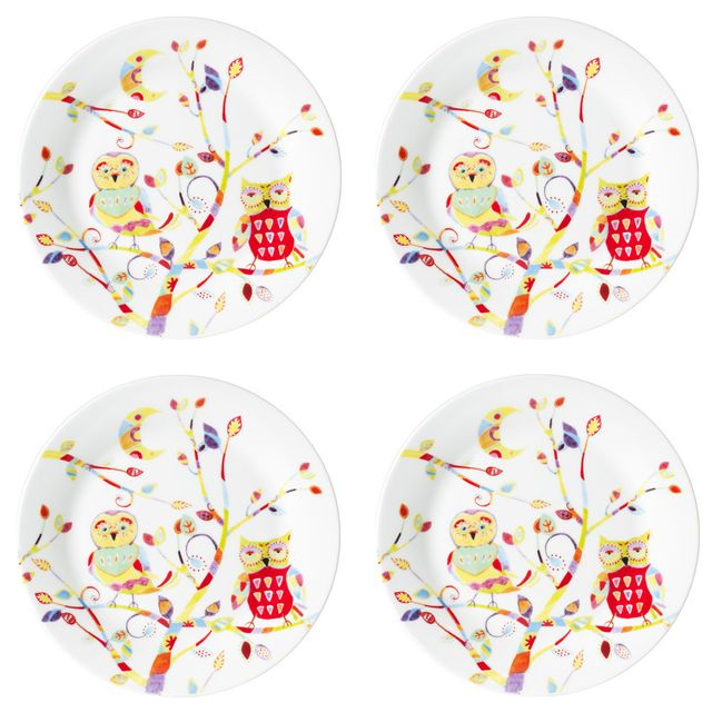 TABLE PASSION SET 4 ASSIETTES DESSERT HEDWIGE PORCELAINE ASSORTIES