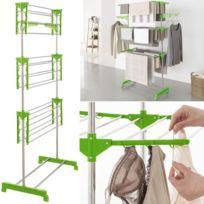 sechoir linge pliable achat sechoir linge pliable pas cher soldes rueducommerce. Black Bedroom Furniture Sets. Home Design Ideas