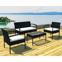 CREADOR - Ensemble table extensible + 10 fauteuils Anthracite - pas ...