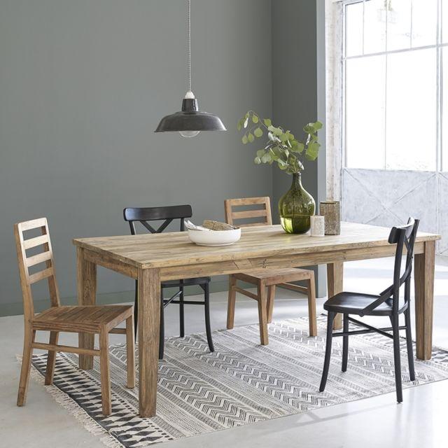 bois dessus bois dessous table en bois de teck recycl avec rallonges 8 12 couverts pas. Black Bedroom Furniture Sets. Home Design Ideas