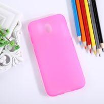 Wewoo - Coque rose pour Samsung Galaxy J5 2017 / J530 version de l'UE givré solide couleur souple Tpu étui de protection arrière
