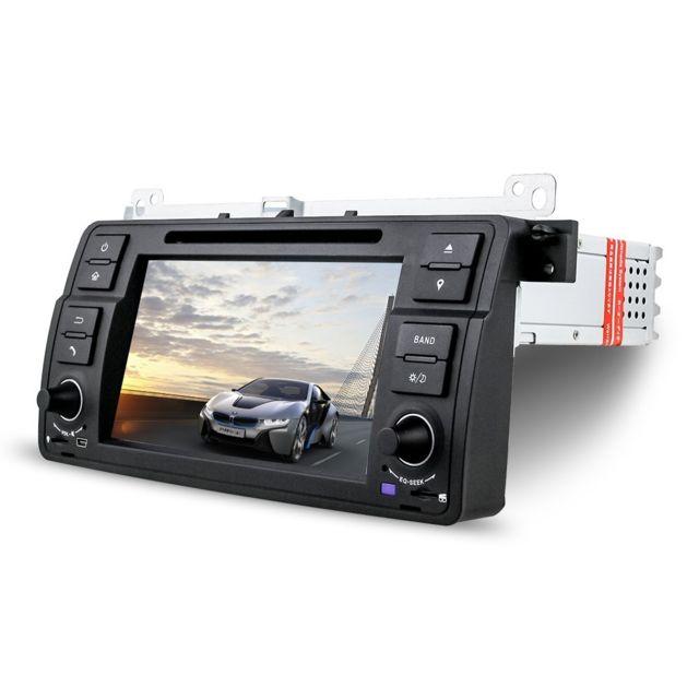 Auto-hightech Autoradio Stéréo 7 pouces avec fonction Gps Navigation In-dash et Micro intégré - Noir