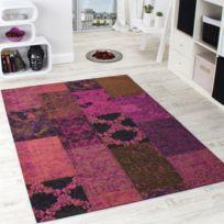 Paco-home - Tapis Mosaïque -antik- Vintage Patchwork Design Tapis Rose Violet 240X330