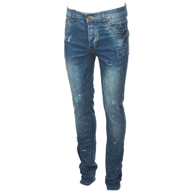 BIAGGIO Pantalon jeans Domerla denim jeans Bleu 57493
