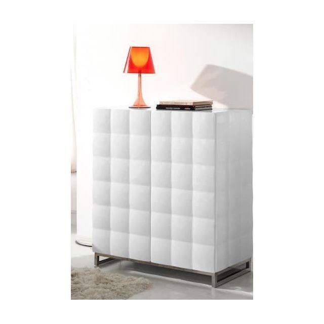 Items France - Riverside S - Buffet design laque blanc 101.5x51x110cm 42ca78ea6541