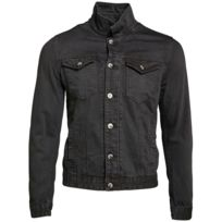 Gov Denim - Veste en jean urbain Noir Td_1010_BK XXL