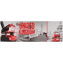 Promobo - Grand Tableau Toile Déco Londres Panorama London Piccadilly Circus United Kingdom 30 x 90cm