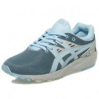 Asics - Chaussures Gel Kayano Trainer Evo Bleu Gris Homme Femme Garçon Fille 8766cb1da007