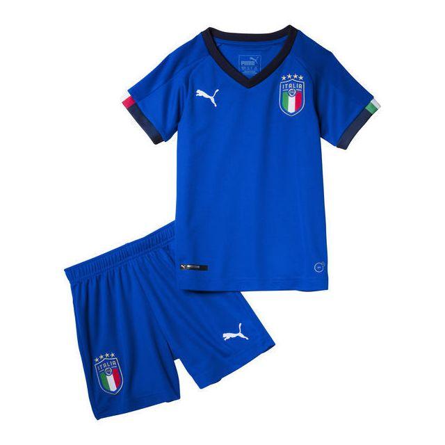 Puma Minikit domicile Italie 2018 bleublanc pas cher