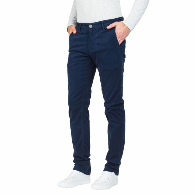 Cooper En Chino Garven Lee Marine Pantalon Coton Bleu Stretch nwOk80P