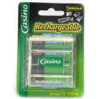 Casino - Paquet de 4 accus Hr6/AA - 1,2V - 2300 mAh - Ni-MH